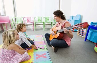 Preschool teachers often sing to their students.