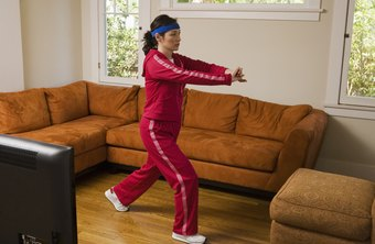 Exercising at home can reduce body fat.