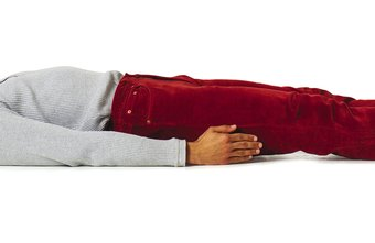 Begin leg lifts in a supine position; then, slowly lift both legs until they're perpendicular to the floor.