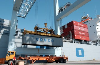 Container ships move imports and exports from port to port.