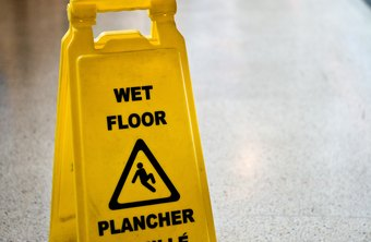 Train employees to use warning signs to prevent slips and falls.