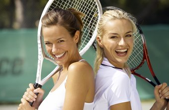 Tennis can be intense, even when played among friends.