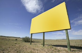 A billboard is a simple but effective advertising tool.
