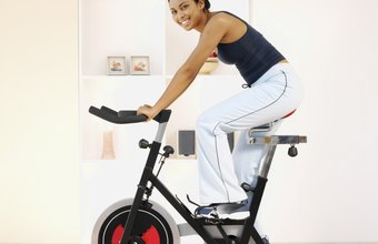 An exercise bike doesn't take up much space in a home gym.