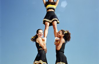 Female cheerleaders need to be just as strong as their male counterparts.