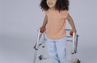 Children with diparetic CP learn to walk with assistive devices.