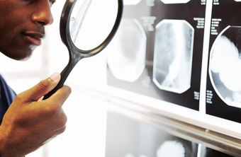 Physicians who review X-rays and imaging studies dictate their findings.