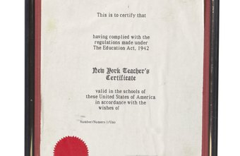 Teacher certificates can be looked up online and printed in Texas.