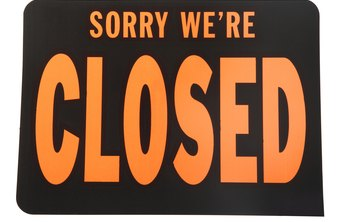 Thousands of businesses close down each year.