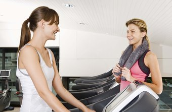 Distractions such as talking or programming the treadmill can cause falls.
