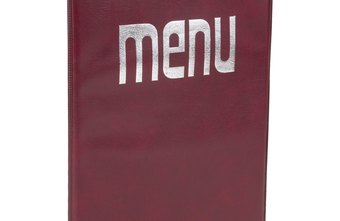 how to make restaurant menus