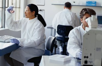 Toxicologists have to spend long hours working in a lab.