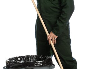 A utility porter helps with janitorial work.