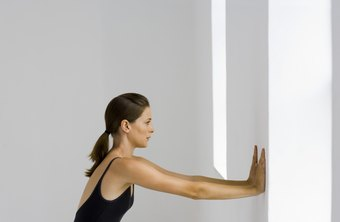 Finger-walk-up-the-wall stretch improves your shoulders' range of motion.