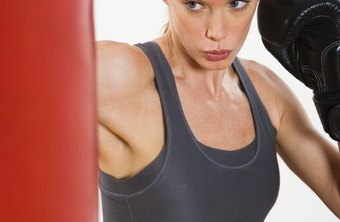 A 40-pound punching bag allows you to practice your boxing fundamentals.