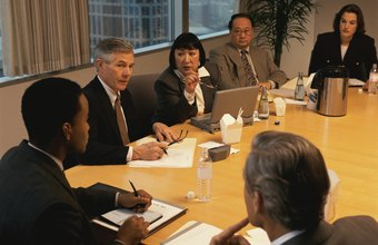The board of directors of a corporation set the policy and management goals of the company.