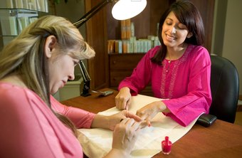 A nail technician needs effective customer service skills.