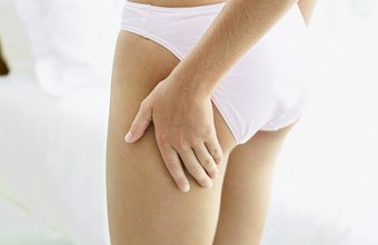 It's common to develop cellulite along the legs, particularly among women.
