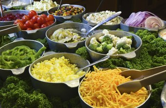 A salad bar is only a small part of the offerings at a buffet restaurant.