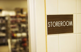 Use space at the back of your store for the storeroom.