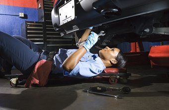 Mechanics must sometimes work in uncomfortable positions.