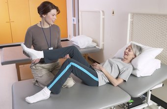 Physical therapists often work as part of a team in a rehabilitation center.