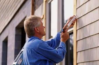 Building maintenance work can include basic repairs such as window sealing.
