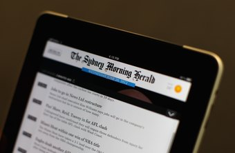 iPad RSS reader applications provide access to updated headlines and news.