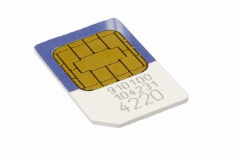 The SIM card is a programmed microchip that identifies a user to a cell phone network.