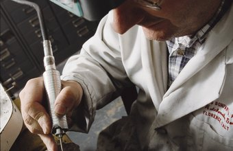 Jewelers use precision tools to ply their craft.