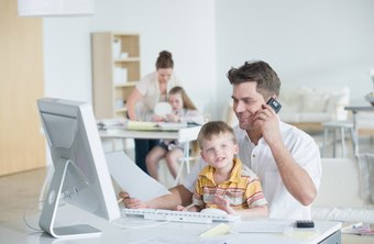 many parents find working from home allows them more time with their kids - Working In Home Office