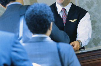 Desk clerks are at the front line of customer service in hotels.