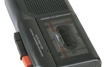 Handheld cassette recorders are simple dictaphone devices.