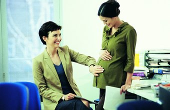 Establish appropriate boundaries with coworkers for dealing with your pregnancy.