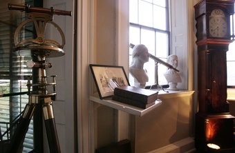 Thomas Jefferson's surveying equipment, at his home, Monticello.