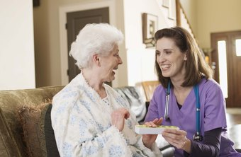 Caregiving is done in a facility or at home.