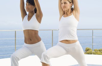 The warrior pose tightens muscles for slimmer thighs.