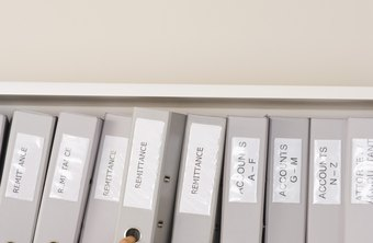 Alphabetizing business names helps you and your co-workers find files quickly.