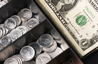 Keep your store's change in a cash drawer.
