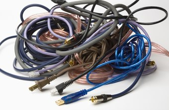 Computer cables contain copper, a recyclable material.