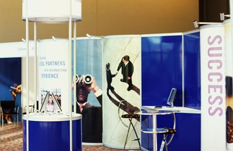 Clean lines and bold colors attract visitors to your booth.