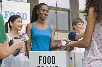 Many companies hold food drives to benefit the community.
