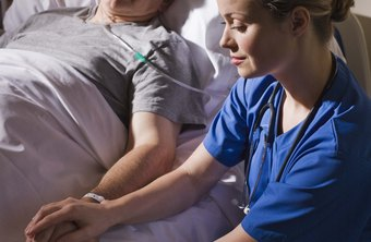Many nurses get job satisfaction from comforting and caring for patients.
