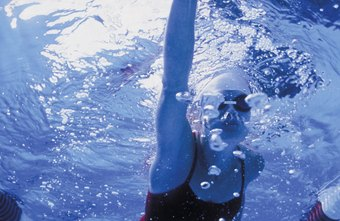 Fast calorie-burning exercises such as swimming laps can help burn fat.