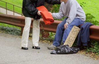 The homeless are an example of a population that social workers serve.
