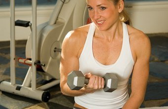 Hand weights provide enough load to build muscles.