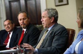 President Bush met with small-sized and medium-sized business owners to discuss his economic stimulus package.