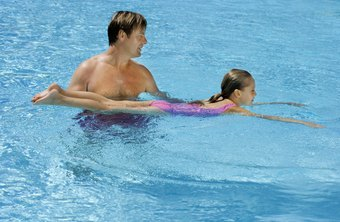 Swim instructors teach swimming to all ages.