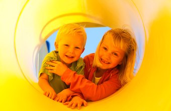 Indoor play structures provide a delightful distraction for the children.
