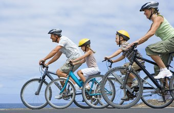 Riding your bikes as a family can increase your weekly workout frequency.